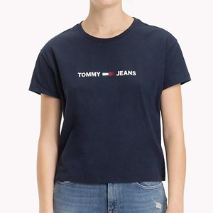 a8267fc3 Tops & T-Shirts - Tommy Jeans Clean Linear Logo Tee - Ballantynes  Department Store